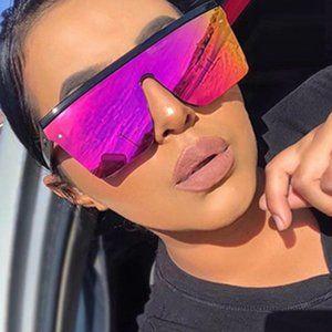 NEW! Square Mirror Pink Sunglasses
